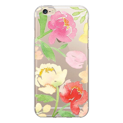 Centon OTM Quotes Prints Case for iPhone 6/6s Plus, Clear/Peonies Gone Bright (IP6PV1CLR-ART13)