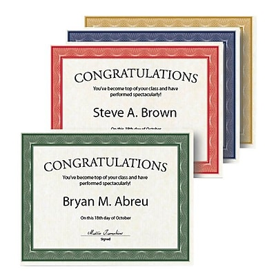 Geographics® Traditional Graduation Award Certificate, 8 1/2