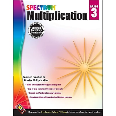 Carson Dellosa™ Spectrum® Grade 3 Multiplication Workbook (704507)