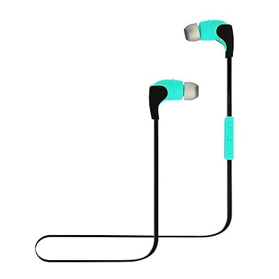 Avia AV-AE2000M Form Fitting Bluetooth Earbuds with Inline Mic & 2 Extra Ear Cushions, Mint