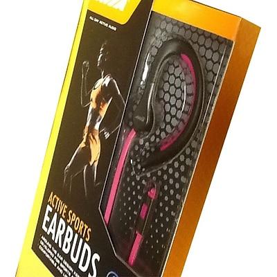 Avia AV-AB1002P Wired In-Ear Hook Sports Earphone, Pink/Black