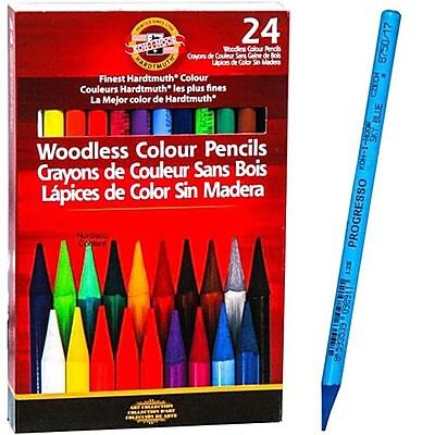 Chartpak® Koh-I-Noor® Progresso Woodless Color Pencil Set, 24/Set (FA8758.24)