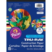 "Pacon® Tru-Ray® 9"" x 12"" Assorted Sulphite Construction Paper Pad (1000046)"