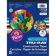 """Pacon® Tru-Ray® 9"""" x 12"""" Assorted Sulphite Construction Paper Pad (1000046)"""