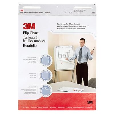 "3M™ Post-it® Professional Flip Chart Pad, 25"" x 30"", Unruled, White"