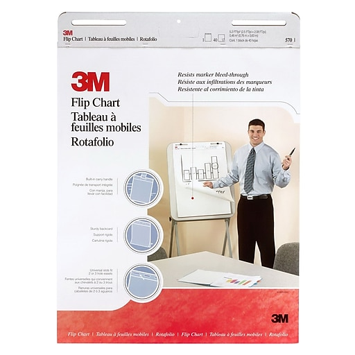3m post it professional flip chart pad 25 x 30 unruled white