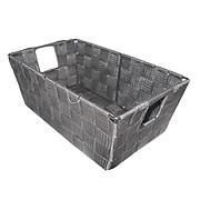 "Kennedy International Woven Storage Tote, 4 1/2"" x 11"" x 6 1/2"", White (25094)"