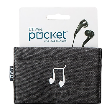UT Wire® Pocket™ Earphone Case Pouch, Black (UTW-PK01)