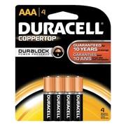 Duracell AAA Alkaline Batteries, 4/Pack