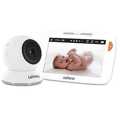 LevanaMD ShilohMC – Moniteur vidéo à écran tactile fixé de 5 po pour bébé, (32200)