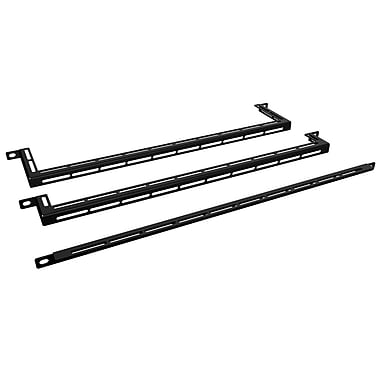 Hammond 0U Rack Mount Formed Lacing Bar, 10/Pack, (HCM190BK)