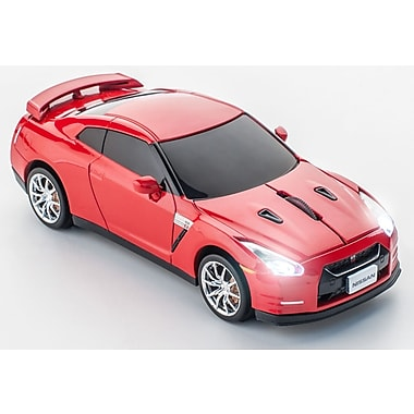 Click Car Nissan GT-R Gold Flake Red Wireless Mouse, (660271)