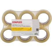 Staples® Double-Length Packaging Tape, 48 mm x 100m, 2.2-mil, 6-Pack