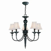 Aurora Lighting 5-Light Incandescent Chandelier - Dark Bronze (STL-LTR493990)