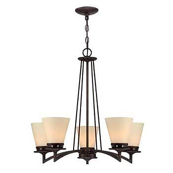 Aurora Lighting 5-Light Incandescent Chandelier - Aged Bronze (STL-LTR451983)