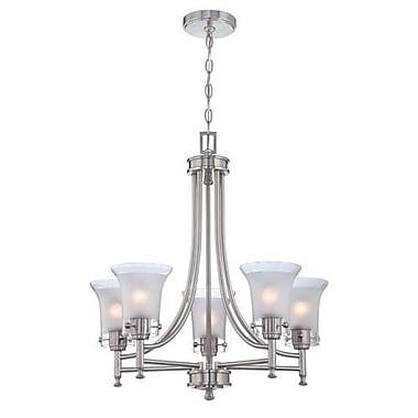 Aurora Lighting 5-Light Incandescent Chandelier - Polished Steel (STL-LTR453796)