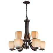 Aurora Lighting 9-Light Incandescent Chandelier - Dark Bronze (STL-LTR448174)