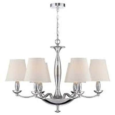 Aurora Lighting 6-Light Incandescent Chandelier - Polished Chrome (STL-LTR454120)
