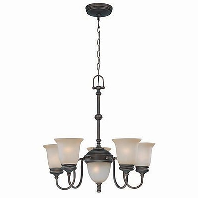 Aurora Lighting 5+2-Light Incandescent Chandelier - Antique Bronze (STL-LTR439912)