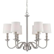 Aurora Lighting 6-Light Incandescent Chandelier - Polished Steel (STL-LTR457183)