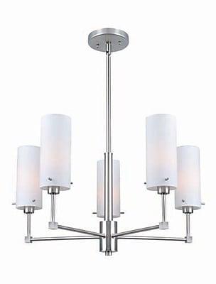 Aurora Lighting 5-Light Incandescent Chandelier - Polished Steel (STL-LTR458845)
