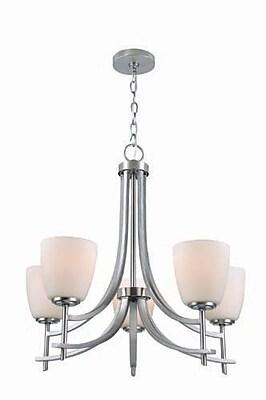 Aurora Lighting 5-Light Incandescent Chandelier - Polished Steel (STL-LTR458852)