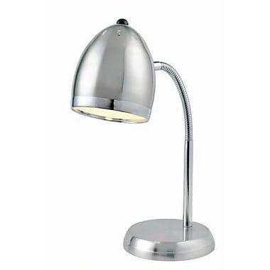 Aurora Lighting 1-Light CFL Desk Lamp - Polished Steel (STL-LTR458128)