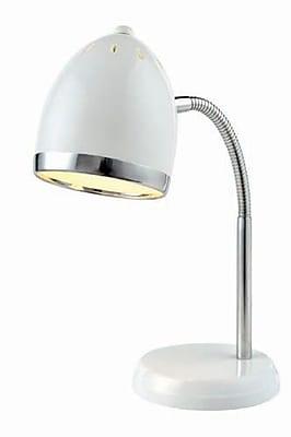 Aurora Lighting 1-Light CFL Desk Lamp - White (STL-LTR458159)