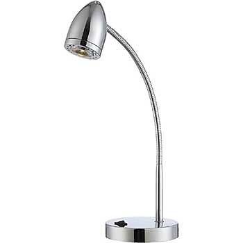 Aurora Lighting 1-Light LED Desk Lamp - Polished Chrome (STL-LTR457855)