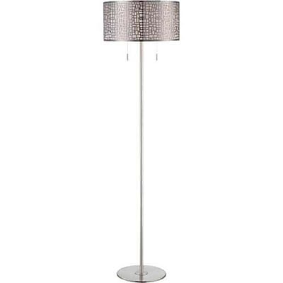 Aurora Lighting 2-Light CFL Floor Lamp - Polished Steel (STL-LTR455912)