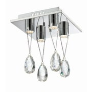 Aurora Lighting 4-Light LED Flush Mount - Polished Chrome (STL-LTR901112)