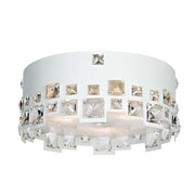 Aurora Lighting 3-Light Halogen Flush Mount - White (STL-LTR901150)
