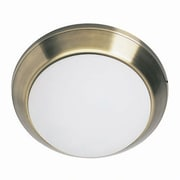 Aurora Lighting 1-Light Fluorescent Flush Mount - Antique Brass (STL-LTR418153)