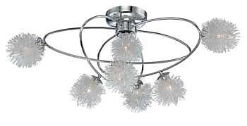 Aurora Lighting 7-Light Halogen Flush Mount - Polished Chrome (STL-LTR455608)