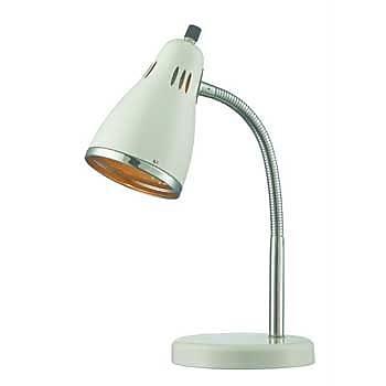Aurora Lighting 1-Light CFL Gooseneck Desk Lamp - White (STL-LTR460725)