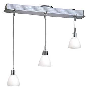 Aurora Lighting 3-Light Halogen Island Pendant - Polished Steel (STL-LTR439653)