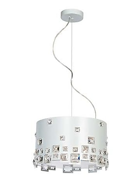 Aurora Lighting 3-Light Halogen Pendant - White (STL-LTR901167)