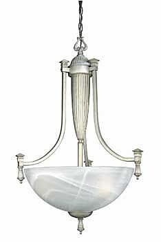 Aurora Lighting 3-Light Incandescent Pendant - Off White (STL-LTR409311)