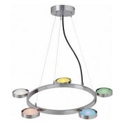 Aurora Lighting 5-Light Halogen Pendant - Polished Steel (STL-LTR417316)