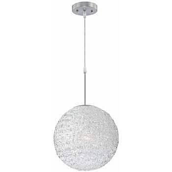 Aurora Lighting 1-Light Incandescent Pendant - Polished Steel (STL-LTR446262)