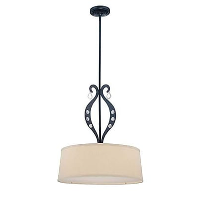 Aurora Lighting 3-Light Incandescent Pendant - Black (STL-LTR447085)