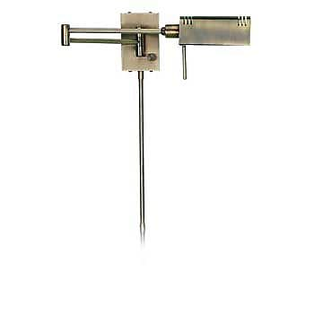 Aurora Lighting 1-Light Halogen Swing Arm Wall Sconce - Antique Brass (STL-LTR400080)