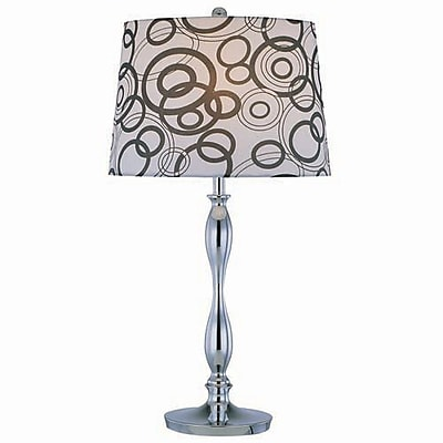 Aurora Lighting Incandescent Table Lamp - Polished Chrome (STL-LTR446408)