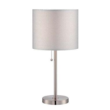 Aurora Lighting CFL Table Lamp - Polished Steel (STL-LTR461050)