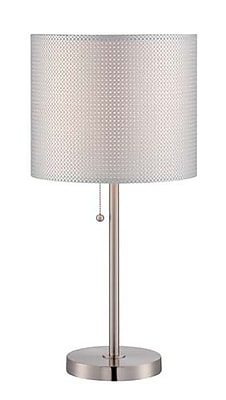 Aurora Lighting CFL Table Lamp - Polished Steel (STL-LTR461050)