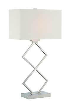Aurora Lighting CFL Table Lamp - Polished Steel (STL-LTR460053)