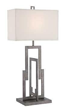 Aurora Lighting CFL Table Lamp - Silver (STL-LTR461104)
