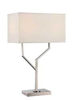 Aurora Lighting CFL Table Lamp - Polished Steel (STL-LTR461685)