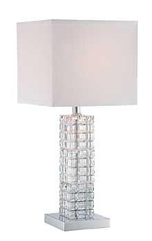 Aurora Lighting CFL Table Lamp - Polished Chrome (STL-LTR463528)