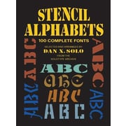 Stencil Alphabets: 100 Complete Fonts, Paperback (9780486256863)